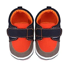 Voberry® Autumn Infant Toddler First Walkers Cotton Shoes Sneaker Soft Bottom (L, Orange)
