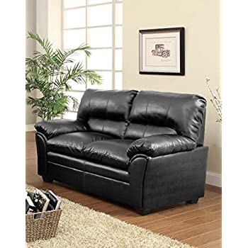 Homelegance 8511BK-2 Talon Contemporary Loveseat Bonded Leather Black