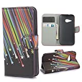 Meteor Shower Pattern PU Leather Case with Magnetic Snap and Card Slot for HTC One M8 Mini