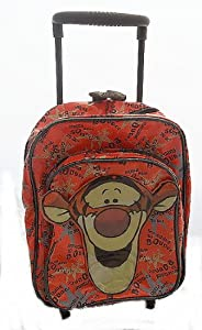Disney Tigger Small Orange Wheeled Backpack Bag by Sambro