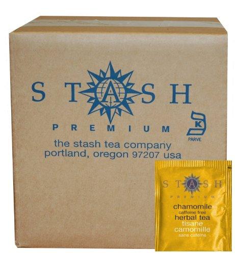 Stash Tea Chamomile Herbal Tea, 100 Count Box of Tea Bags in Foil