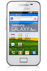Samsung Galaxy Ace Smartphone débloqué 3.5 pouces 160 Mo Android 2.3 Gingerbread Blanc