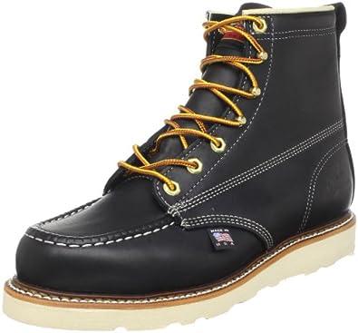 "Thorogood Men's 6"" Thorogood Work Boots,Black,5 D"