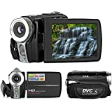 "Proster Full HD 720P DV Compact Digital Camera Video Camcorder CAM - Digital Mini Camera DV Camcorder Recorder with 3"" TFT LCD Display Up to 20MP 16X Zoom Electronic Anti-shaking, Human Face Detection and Video Sound"