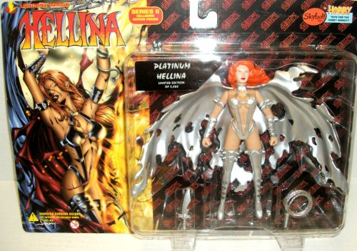 Limited Edition Platinum Lellina Hellborn Action Figure Series II - Lightning Comics' Hellina Series