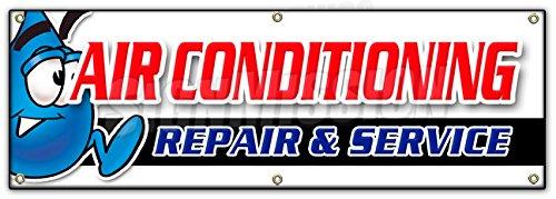 "72"" AC REPAIR & SERVICE BANNER SIGN hvac air conditioning estimates finance"