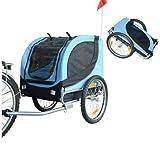 Hundeanhänger Fahrradanhänger Hunde Fahrrad Anhänger Blau/Schwarz NEU