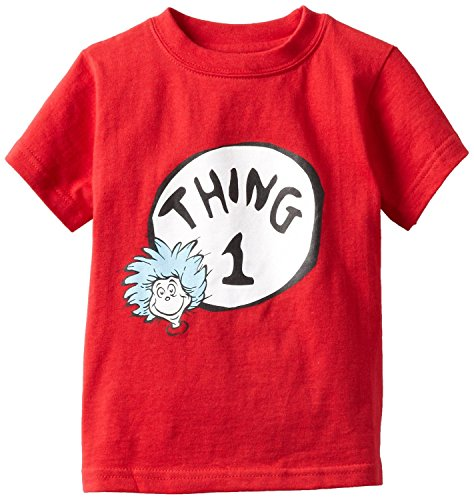 Dr Seuss Thing 1 Unisex-baby Bumkins Short Sleeve Tee with Bracelet for Mom