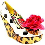 Womens Iron Fist Lolita Love Leopard Wedge Heel Leopard
