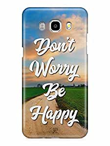 YuBingo Don't Worry. Be Happy Designer Mobile Case Back Cover for Samsung Galaxy J7 2016