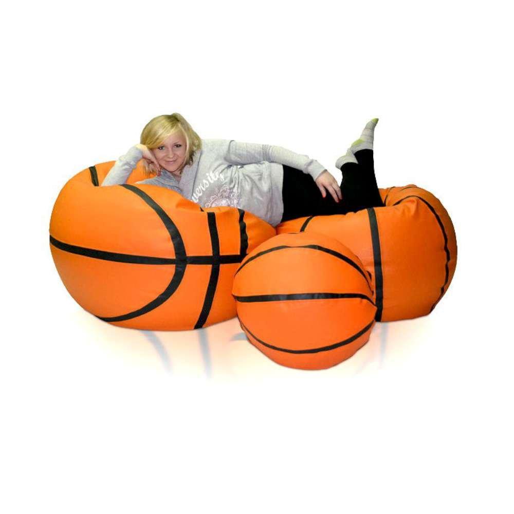JUSThome Basketball 3-teilig Set XXXXL Sitzsäcke Sessel Riesensitzsack Polystyrol Farbe: Orange bestellen