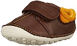 Clarks Tiny Joe Velcro Shoe (Infant/Toddler), Brown, 3.5 M US Toddler