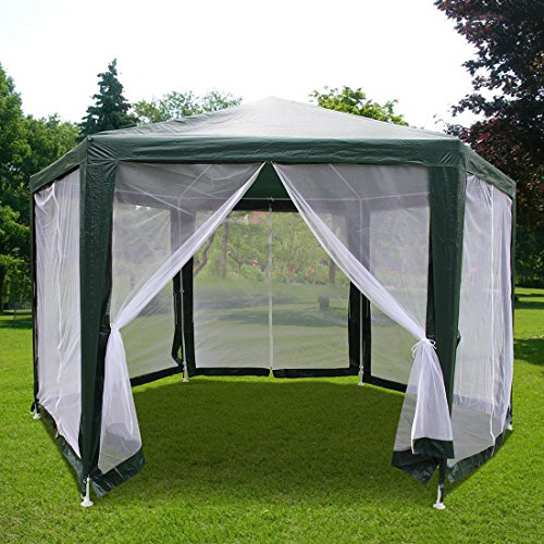 Quictent-6x6x6-Outdoor-Hexagon-Canopy-Party-tent-Gazebo- & Quictent® 6u0027x6u0027x6u2032 Outdoor Hexagon Canopy Party tent Gazebo Sun ...