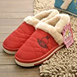 ShangShi Winter Couples Cotton MashiMaro Cartoon Antiskid Warm Slippers
