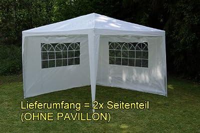 Nexos Pavillons 2 Seitenteile für Pavillon PE Seitenwände, 3 m, weiß von Nexos bei Gartenmöbel von Du und Dein Garten