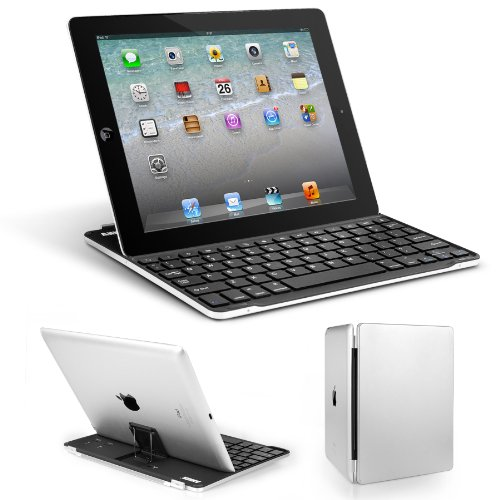 Anker® Bluetooth Ultra-Slim Aluminum Keyboard Cover With Stand For Ipad 4 / 3 / 2 (Black)