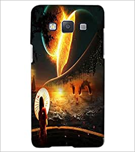 PrintDhaba Abstract Image D-4343 Back Case Cover for SAMSUNG GALAXY E5 (Multi-Coloured)