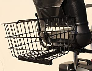 XL Shopping Rear Basket for Pride Electric Mobility Scooters + Holding Pin by Challenger Mobility