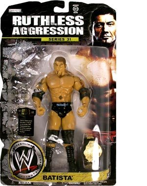 Buy Low Price Jakks Pacific WWE Wrestling Ruthless Aggression Series 31 Action Figure Batista (B0014Y3T9A)