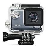 ThiEYE Action Cam HD Actionkamera Wifi 12MP 1080P 30fps Sport Kamera 1.5 Zoll 40M Wasserdichte Helmkamera mit 1000mAh Aufladbare Batterie 155° Weitwinkel