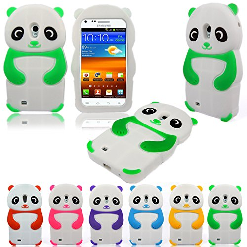 Cellularvilla® Panda Design Soft Silicone Gel Case for Samsung Galaxy S2 Epic 4g Touch D710 Sprint Only Case Cover Protector (Green White) (Sprint Samsung Galaxy S2 Case compare prices)