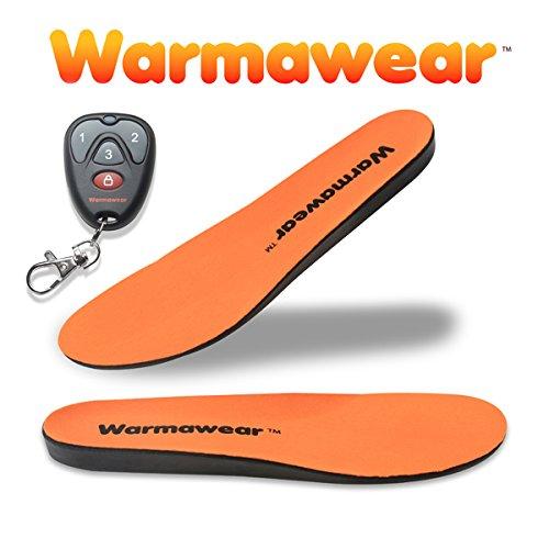 Solette riscaldate resistenti all'acqua con batteria ricaricabile senza filo con telecomando della Warmawear Deluxe -