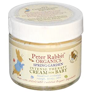 Peter Rabbit - Organic Baby Spring Garden, Intense Therapy Cream for Baby, Fragrance Free, 2 oz (56.7 g)