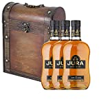 3 x The Isle Of Jura 10 Year Old Single Malt Whisky 70cl Bottles in Antique Style Gift Box with Hand Crafted Gifts2Drink Tag