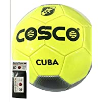 COSCO FOOTBALL CUBA ( SIZE-5 ) WITH FREE SPORTSHOUSE WRIST BAND