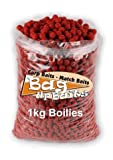 Bag Up Baits Boosted Spicy Sausage 15mm Carp Boilie Hook Baits 1kg Pack - Free Delivery