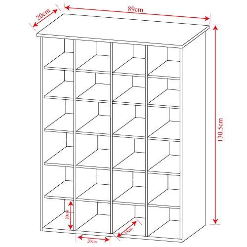cube dvdcd regal eiche m belrado. Black Bedroom Furniture Sets. Home Design Ideas