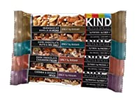 KIND Nuts & Spices, Variety Pack, 12-Count Bars (Cashew & Ginger Spice, Dark Chocolate Cinnamon Pecan, Dark Chocolate Nuts & Sea Salt, Madagascar Vanilla Almond - 3 Bars each), 1.4oz. by KIND Nuts & Spices