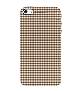 Small Checks Design 3D Hard Polycarbonate Designer Back Case Cover for Apple iPhone 4