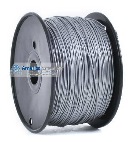 Jet - ABS (3mm, Silver color, 1.0kg =2.204lbs) Filament on Spool for 3D Printer MakerBot RepRap MakerGear Ultimaker & Up!