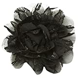 Wholesale Princess Chiffon Fabric and Lace Flower Hair Clip