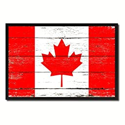 Canada National Shabby Chic Flag Art Canvas Print Wall Home Décor Interior Design Souvenir Gift Ideas