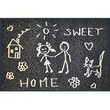 """Wash + Dry 037675 Fu�matte Sweet Home 50 x 75 cmvon """"Wash&Dry"""""""