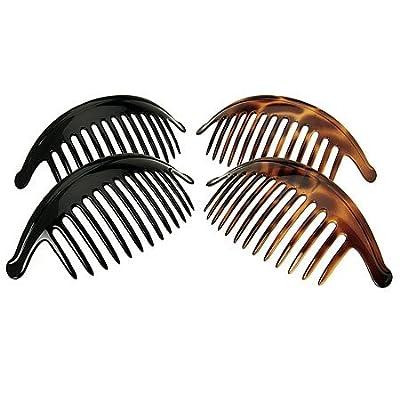 Amazon.com : France Luxe Large Interlocking Comb Pair - Tortoise : Decorative Hair Combs : Beauty