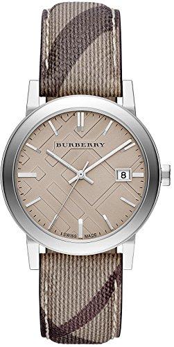 BURBERRY BU9029 - Reloj unisex, correa de cuero color marrón