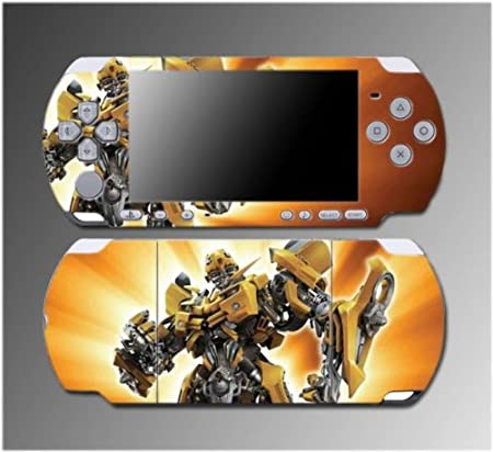 Transformers Bumblebee Camaro Autobots Video Game Vinyl Decal Sticker Cover Skin Protector 10 for Sony PSP Slim 3000 3001 3002 3003 3004 Playstation Portable