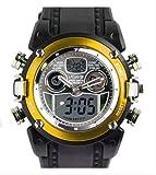 【P&B】OHSEN腕時計/アナログデジタル表示/防水 タイマー アラーム ストップウォッチ バックライト機能/ カジュアル メンズ レディース ウォッチ スポーツ (黄色 イエロー)