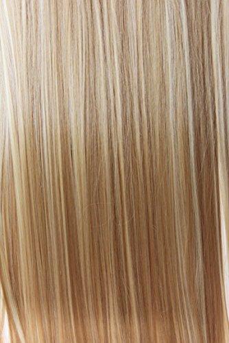 PRETTYSHOP XXL Set 8 pcs 60 cm clip nelle estensioni dei capelli della parte dei capelli ondulato o liscio pieno Testa calore Resistere vari colori