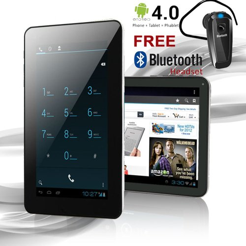 """Phablet 7"""" Android 4.0 Gsm Tablet Phone - Unlocked - At&T"""