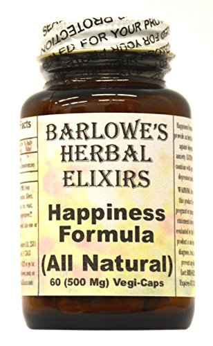 Happiness Formula - 60 500mg VegiCaps - Stearate Free, Bottled in Glass (Albizzia Extract compare prices)