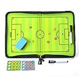 AGPtEK サッカー用のコーチボード マグネット 作戦盤 戦略/指導など 専用ペン付き ファスナータイプ