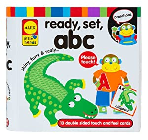 ALEX Toys - Early Learning, Ready, Set, Touch and Feel Flash Cards, ABC, 1431