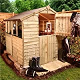 BillyOh Classic 6 x 6 Pressure Treated Overlap Apex Garden Shed