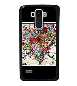 Flowers Heart 2D Hard Polycarbonate Designer Back Case Cover for LG G4 Stylus