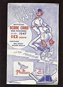 1947 MLB Baseball Program Brooklyn Dodgers @ Philadelphia Phillies EX+ - MLB Programs and Yearbooks