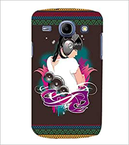 PrintDhaba Music Girl D-2523 Back Case Cover for SAMSUNG GALAXY MEGA 5.8 (Multi-Coloured)